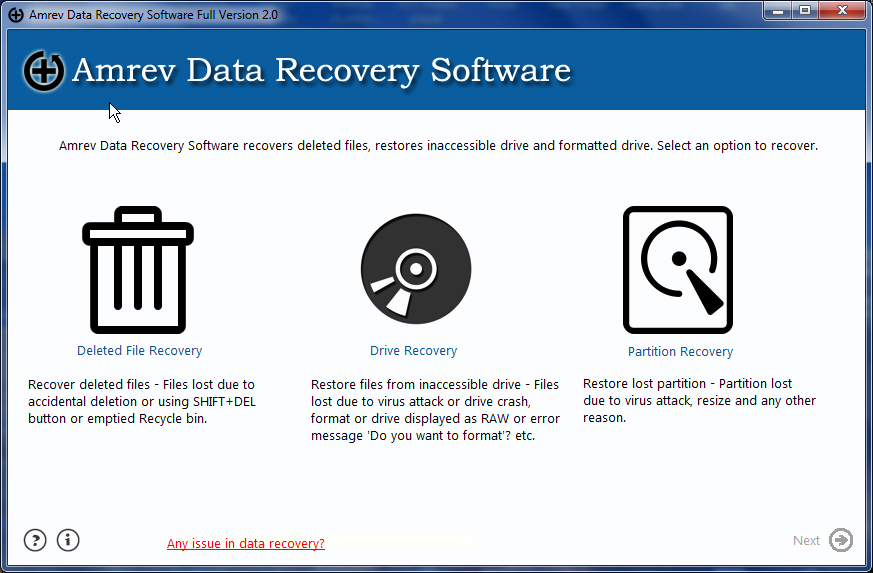 Data Recovery Software is one of the best data recovery software to recover lost and deleted files from wide range of storage media.