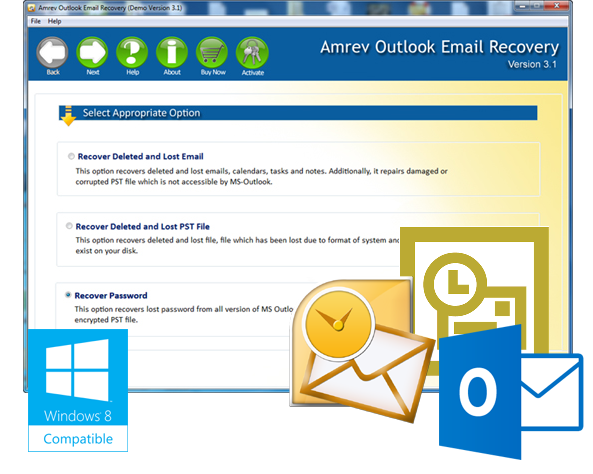 Click to view Amrev Outlook Mail Recovery 3.1 screenshot